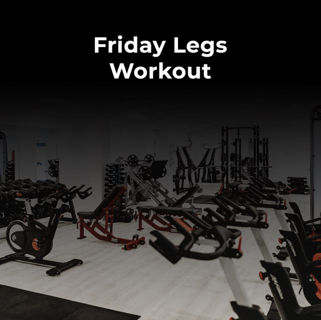 Friday Legs Workout